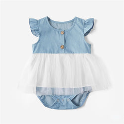 Mother Daughter Lace Dresses 2020 Summer Family Clothing Mom and Daughter Dress Matching Family Outfits Dress for Kids and Women