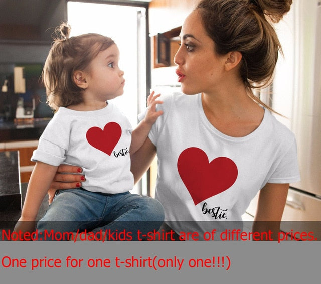 Family Tshirts Boys Girls Mom Mother Mommy and Daughter Son Family T-shirt Family Look Matching T-shirt Mommy Mom and Me Clothes