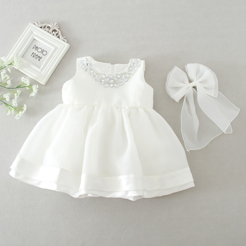 Baby Dresses 1st Birthday Girl Baby Dress Baptism Frocks Newborn Summer Dress Girl 2st Party Wedding Dress Baby Gown