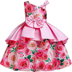 New Style Flower Girls Wedding Party Dresses Girl's first communicative communicative communion ball bow dress vestidos de
