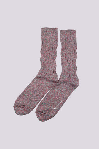 Democratique Socks Relax Twister Knit Socks in Off White