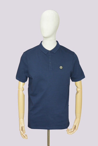 Nicholas Deakins Blades Basic Polo in Navy
