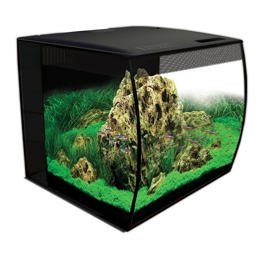Fluval FLEX Aquarium Kit - 57 L / 15 US gal (Black, White)