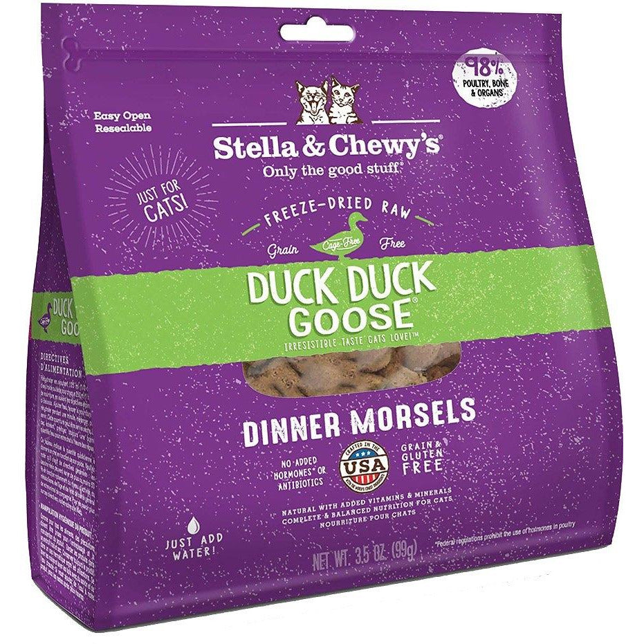 Stella & Chewy's - Duck Duck Goose Freeze-Dried Dinner Morsels - Cat Food
