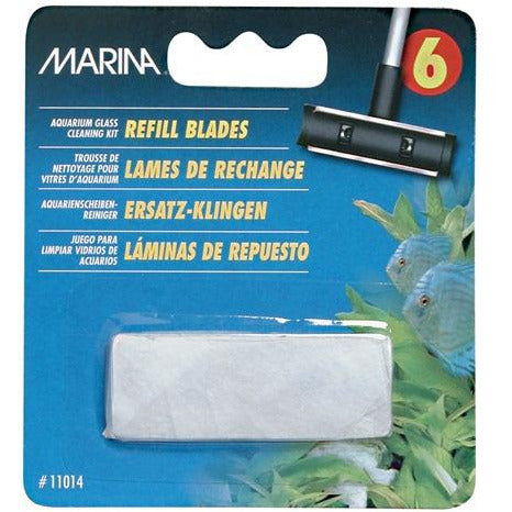 Marina Aquarium Glass Cleaning Refill Blades , 6 Pack