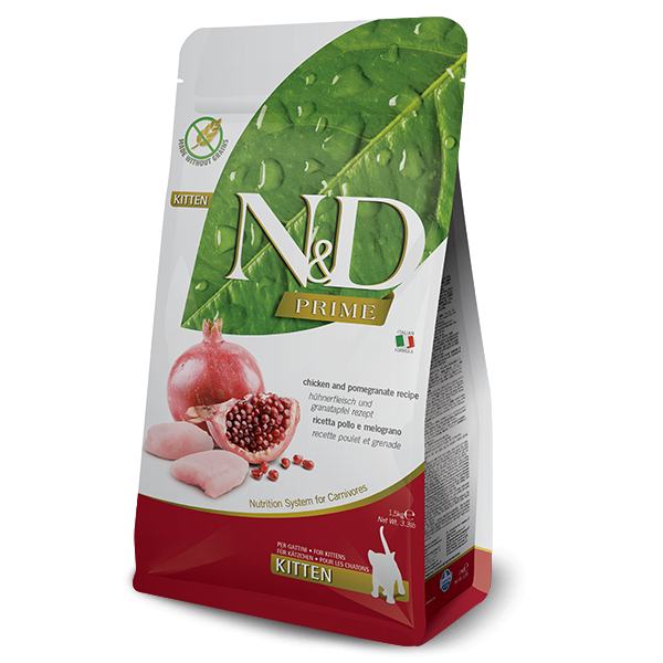 Farmina N&D (Natural & Delicious) Kitten - Prime Chicken & Pomegranate Kitten Food (3.3lb)