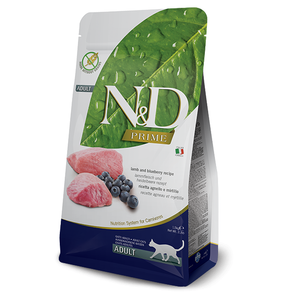 Farmina N&D (Natural & Delicious) - Prime Lamb & Blueberry Cat Food (11lb)