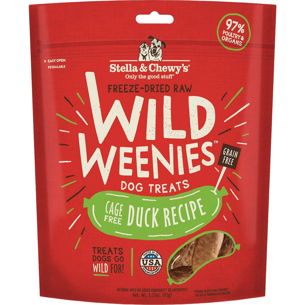 Stella & Chewy's Wild Weenies Dog Treats - Cage-Free Duck (3.25oz)
