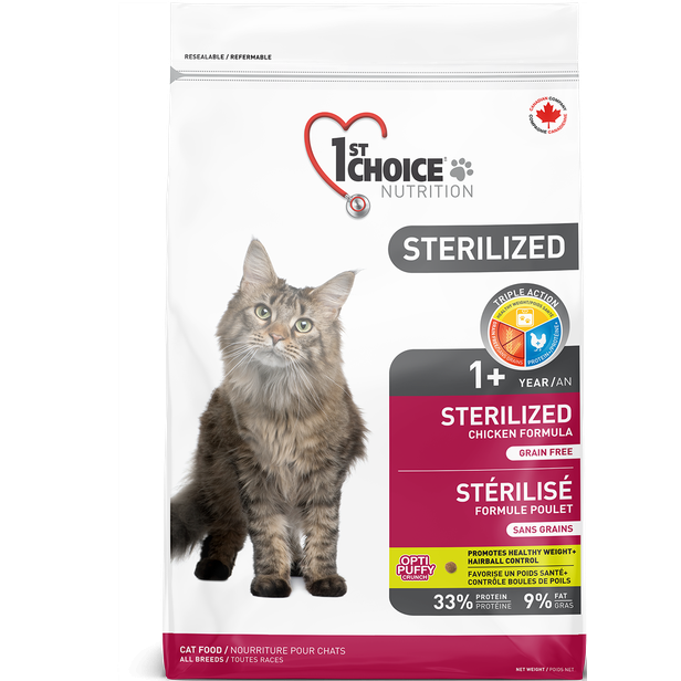 1st Choice Adult Sterilized Cat Food (5kg)