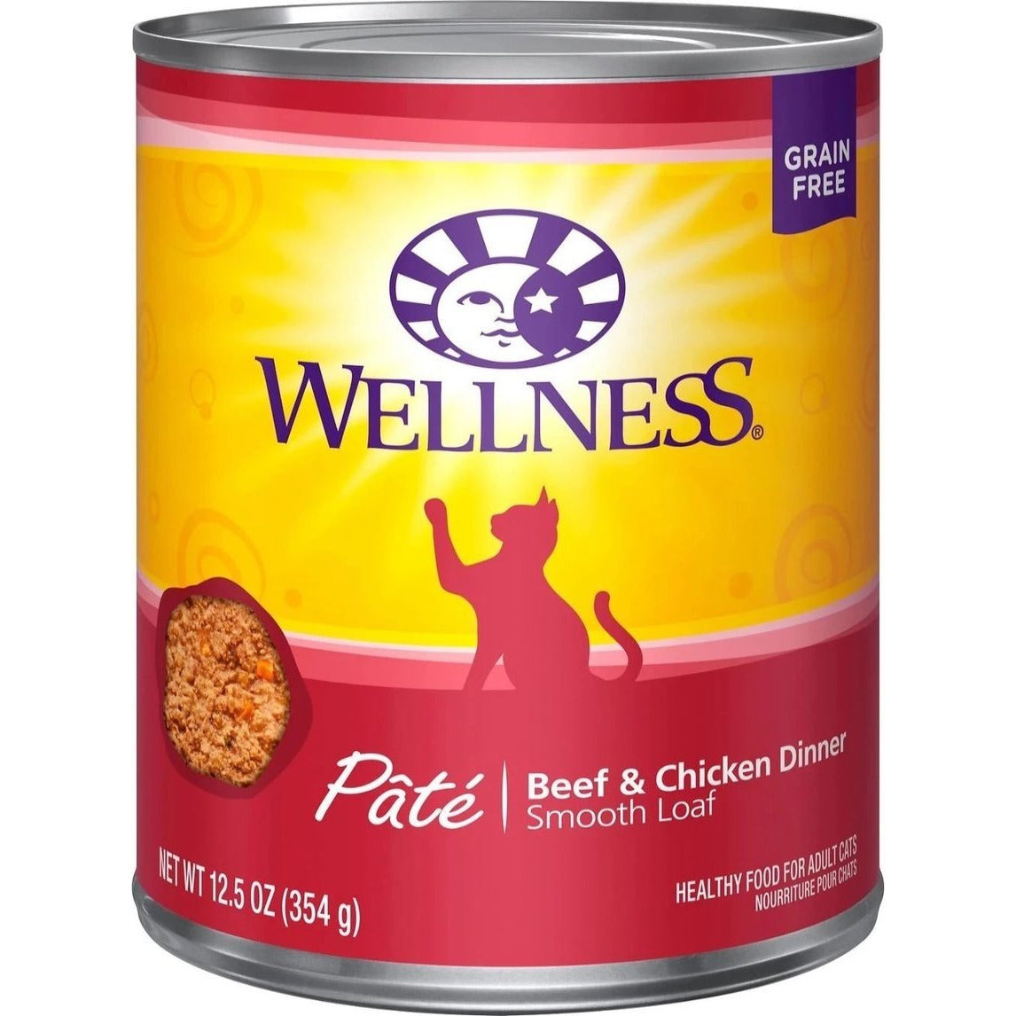 Wellness - Pâté Beef & Chicken Dinner Wet Canned Cat Food (12.5oz)