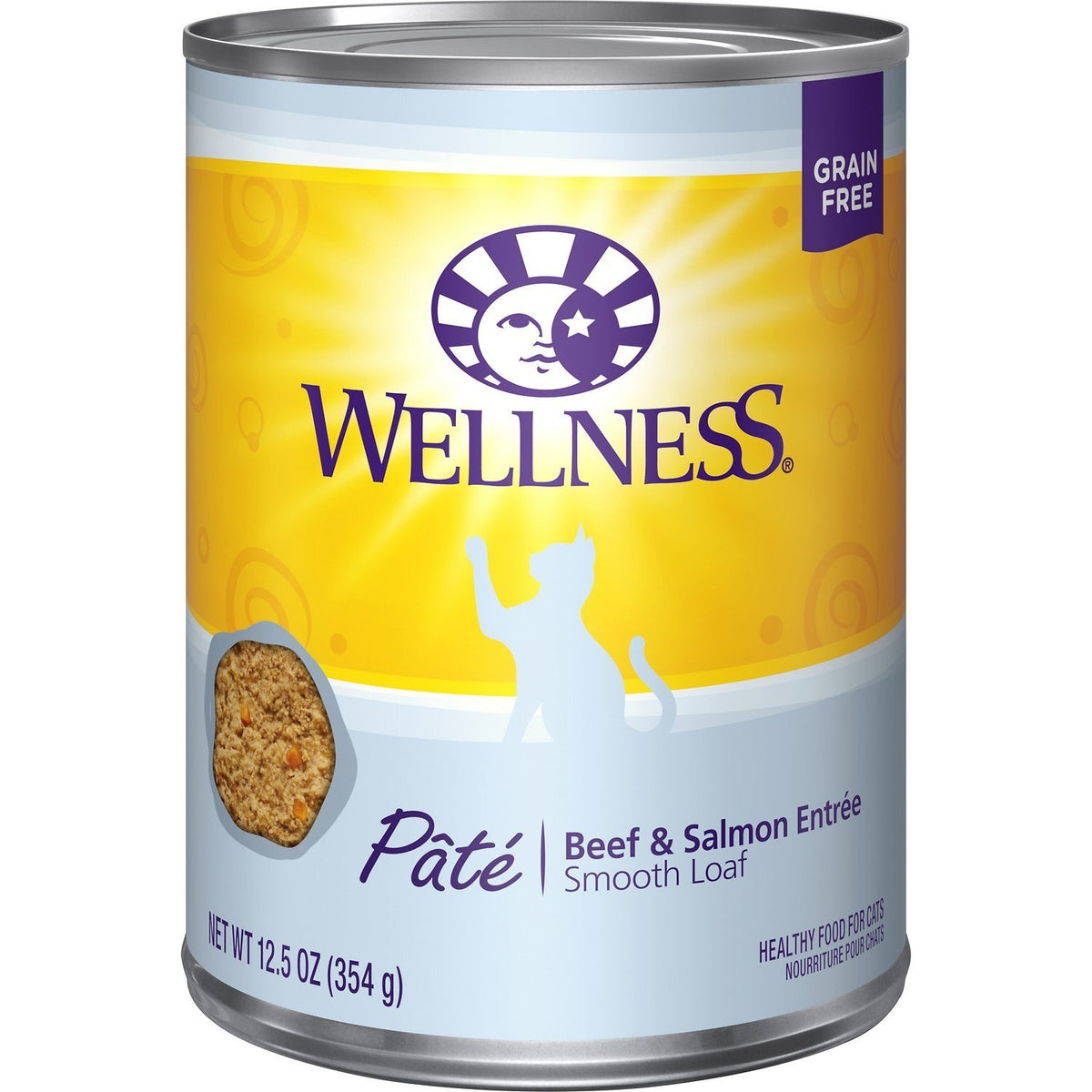 Wellness - Pâté Beef & Salmon Entrée Wet Canned Cat Food (12.5oz)