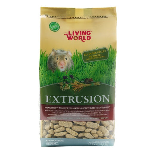 Régime d'extrusion Living World pour hamsters, 1,5 kg (3,3 lb)