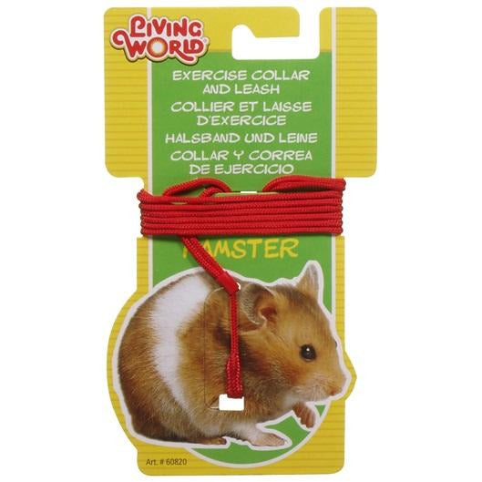 Living World Hamster Lead and Harness Red