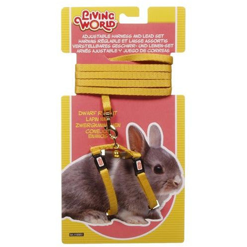 Living World Figure 8 Harness and Lead Set For Dwarf Rabbits - Yellow