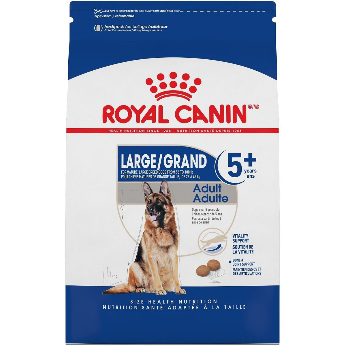 Royal Canin LARGE Adult 5+ Dry Dog Food (30lb)