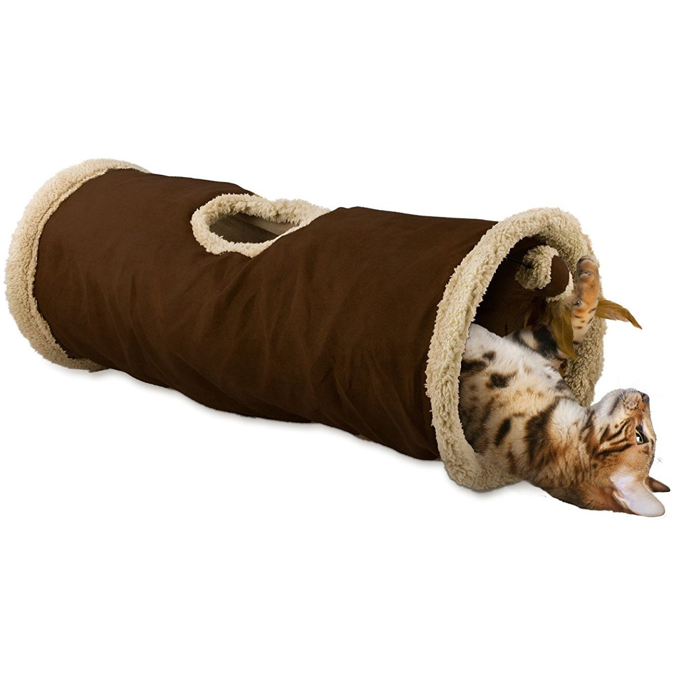 All For Paws Find Me Cat Tunnel (Brown)