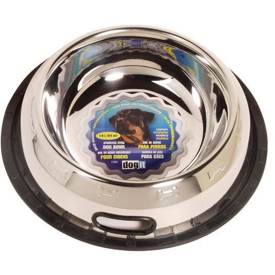 Dogit Stainless Steel Non-Spill Dog Dish, extra large, 1.9L