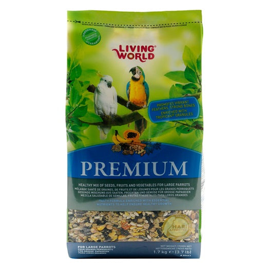Living World Premium Mix For Large Parrots 770 g (1.7 lb)