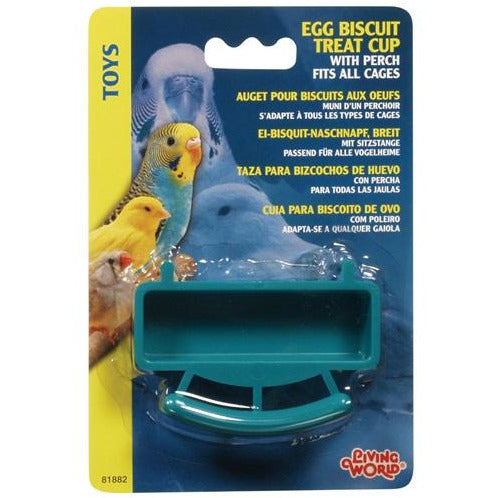 Living World Egg Biscuit Treat Cup with Perch