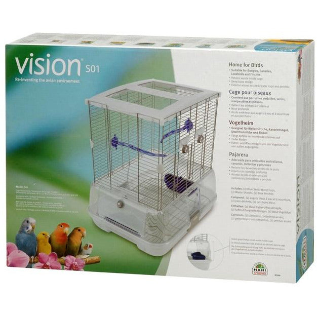 Vision Bird Cage for small birds (S01) Small Wire, single height
