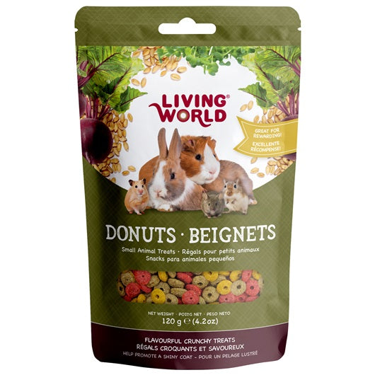Living World Small Animal Donuts - 120 g
