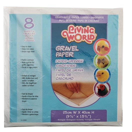 Living World Gravel Paper 8-pack 35 cm x 40 cm, Medium