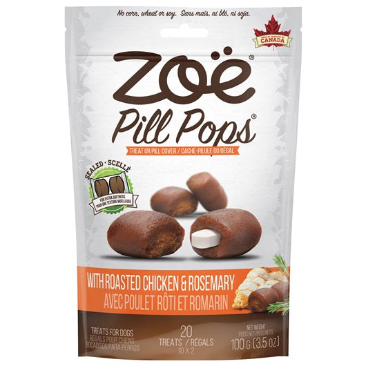 Zoë Pill Pops - Roasted Chicken with Rosemary - 100 g (3.5 oz)