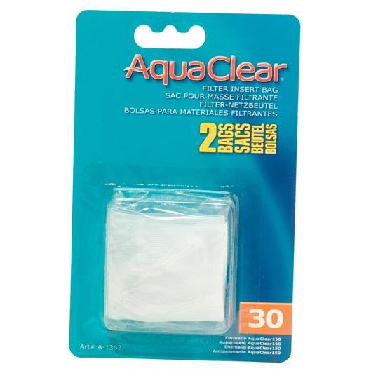 AquaClear Nylon Filter Media Bags for AquaClear 30 Power Filter, 2 pack