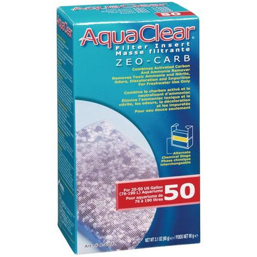 AquaClear 50 Zeo-Carb Filter Insert , 90 g (3.1 oz)