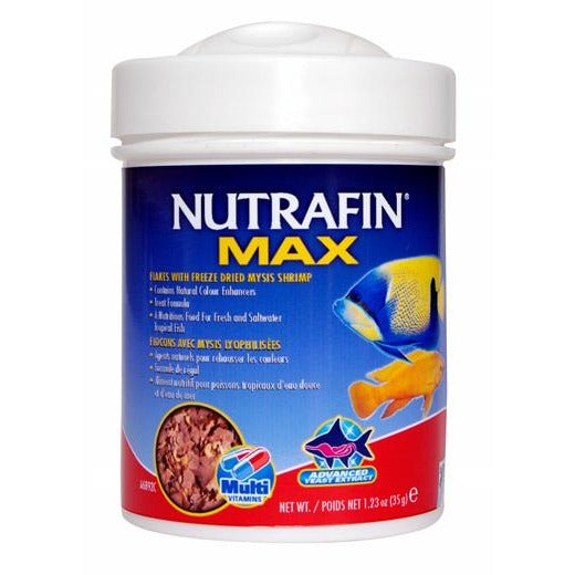 Nutrafin Max Flakes + Freeze Dried Mysis Shrimp (35g)