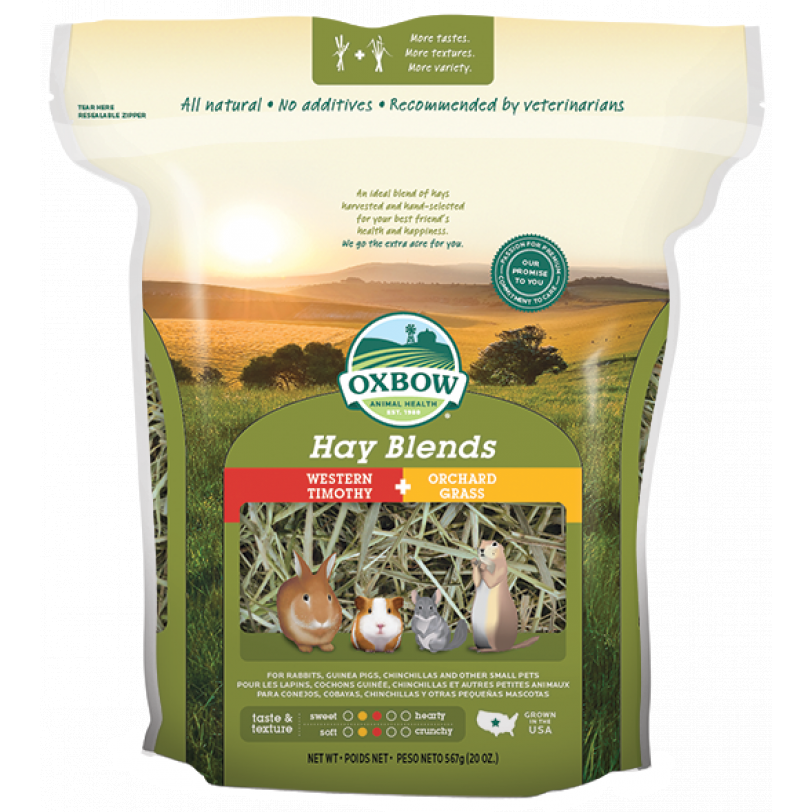 Oxbow Hay Blends - Western Timothy & Orchard Grass (40oz, 90oz)