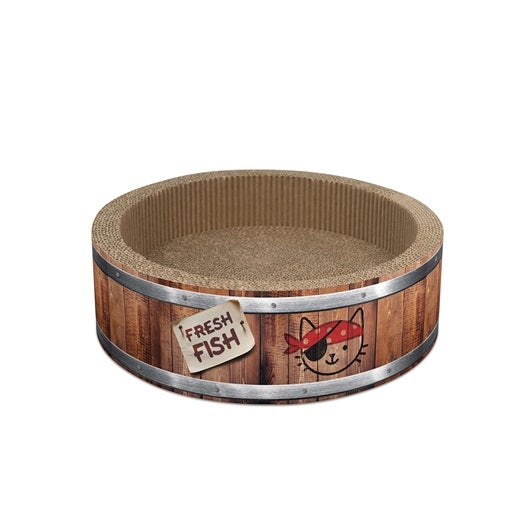Catit Play Pirates Barrel Scratcher with Catnip - Small - 36 cm (14 in)