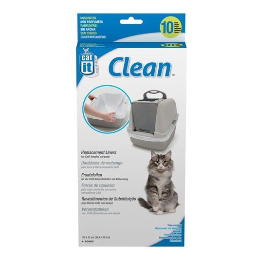 Catit Clean Liners for Regular Cat Pan - 10 pack - Unscented