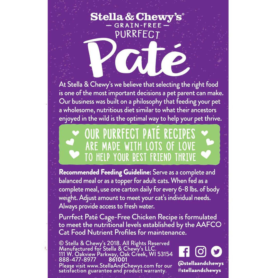 Stella & Chewy's - Purrfect Paté Cage-Free Chicken - Cat Wet Food