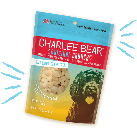 Charlee Bear Original Crunch Liver Dog Treats (6oz)