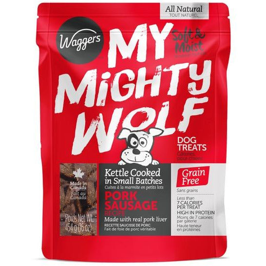 My Mighty Wolf Pork Sausage Dog Treats