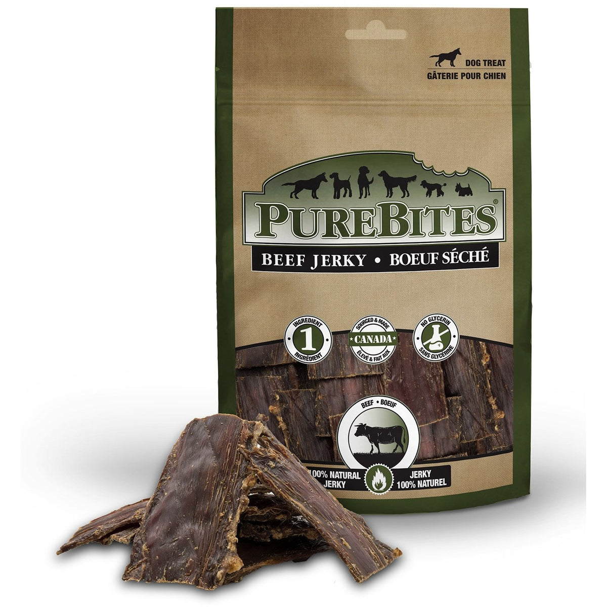 PureBites Beef Jerky Treats 213g