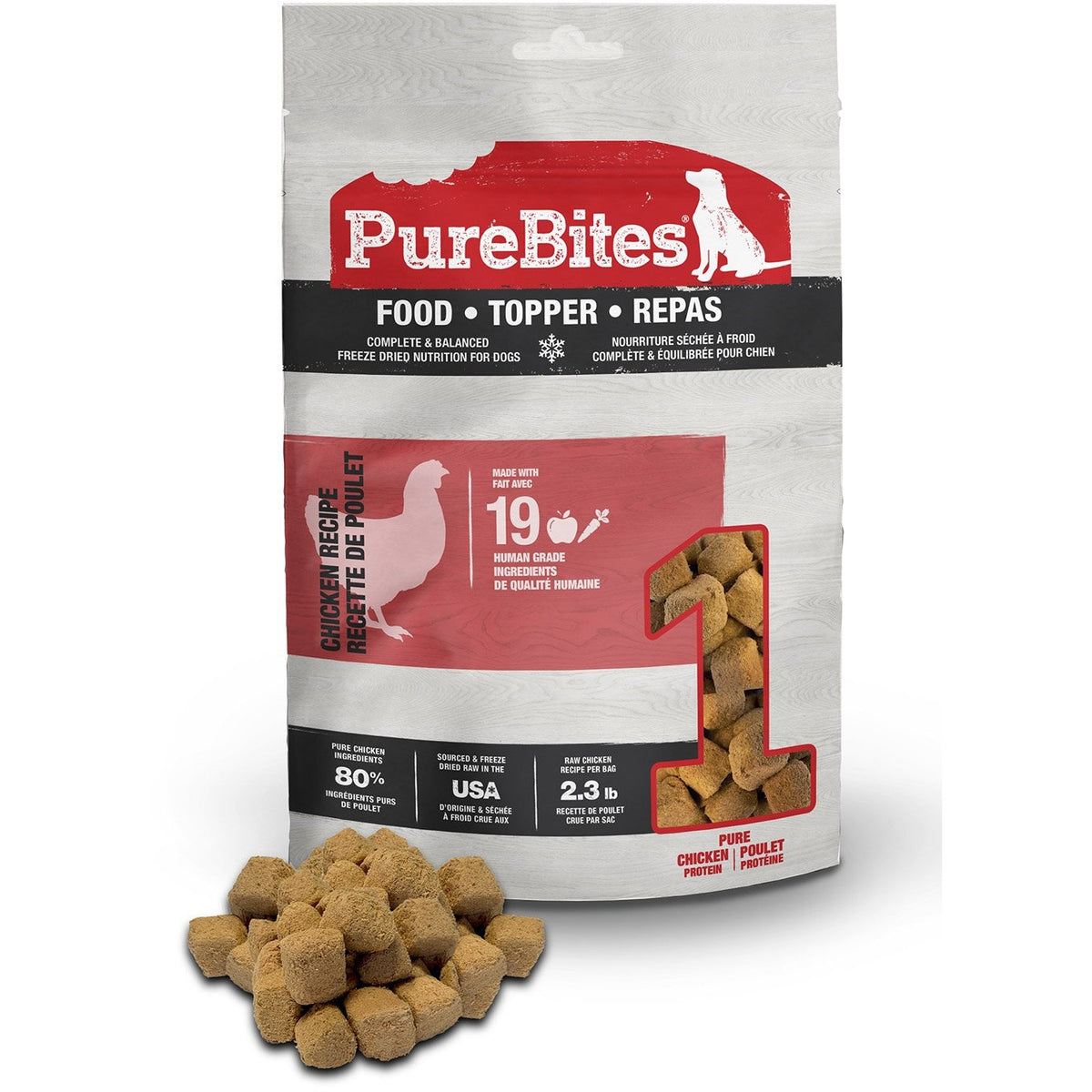 PureBites Chicken Recipe Dog Food Topper 283g