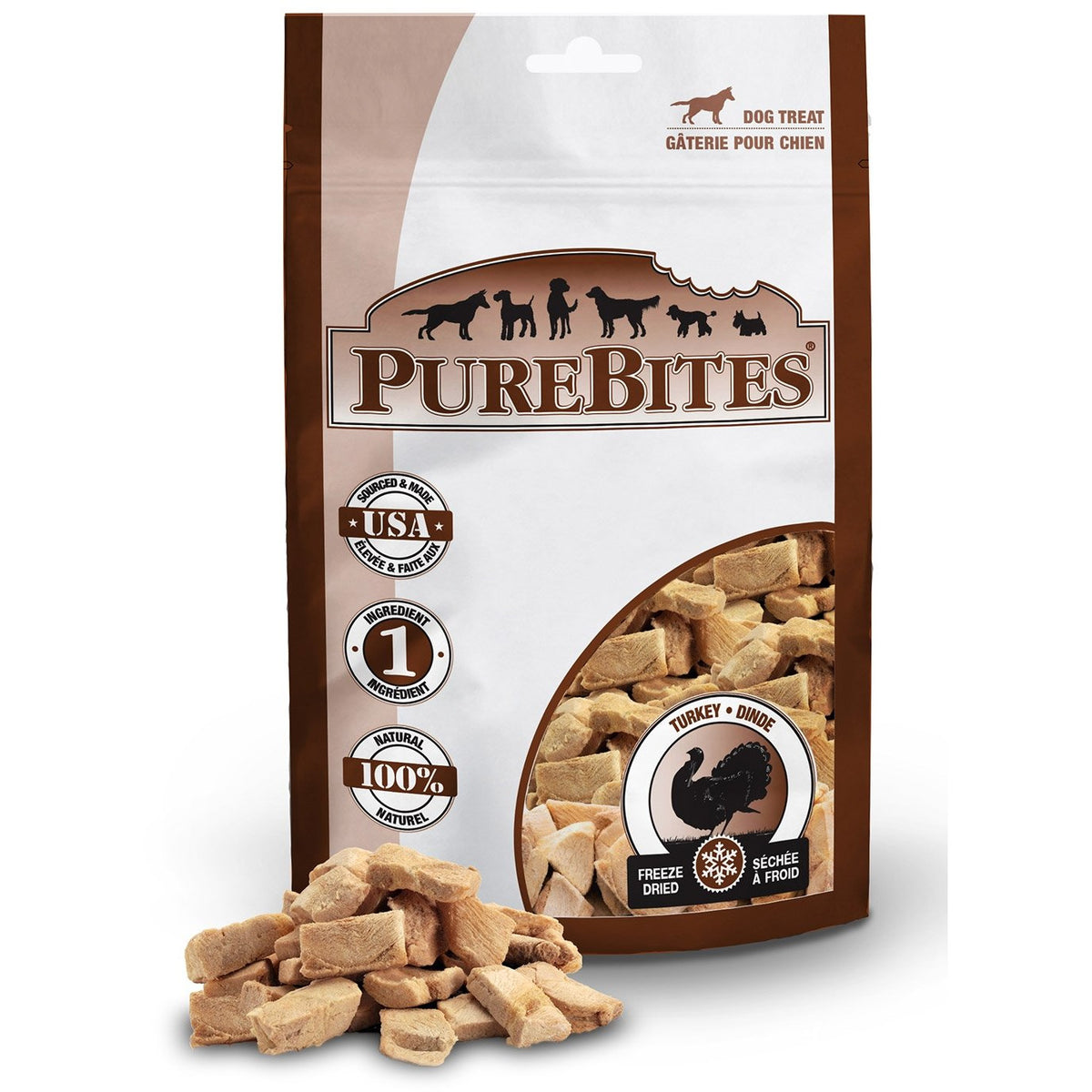 PureBites Freeze Dried Turkey Breast Treats 33g