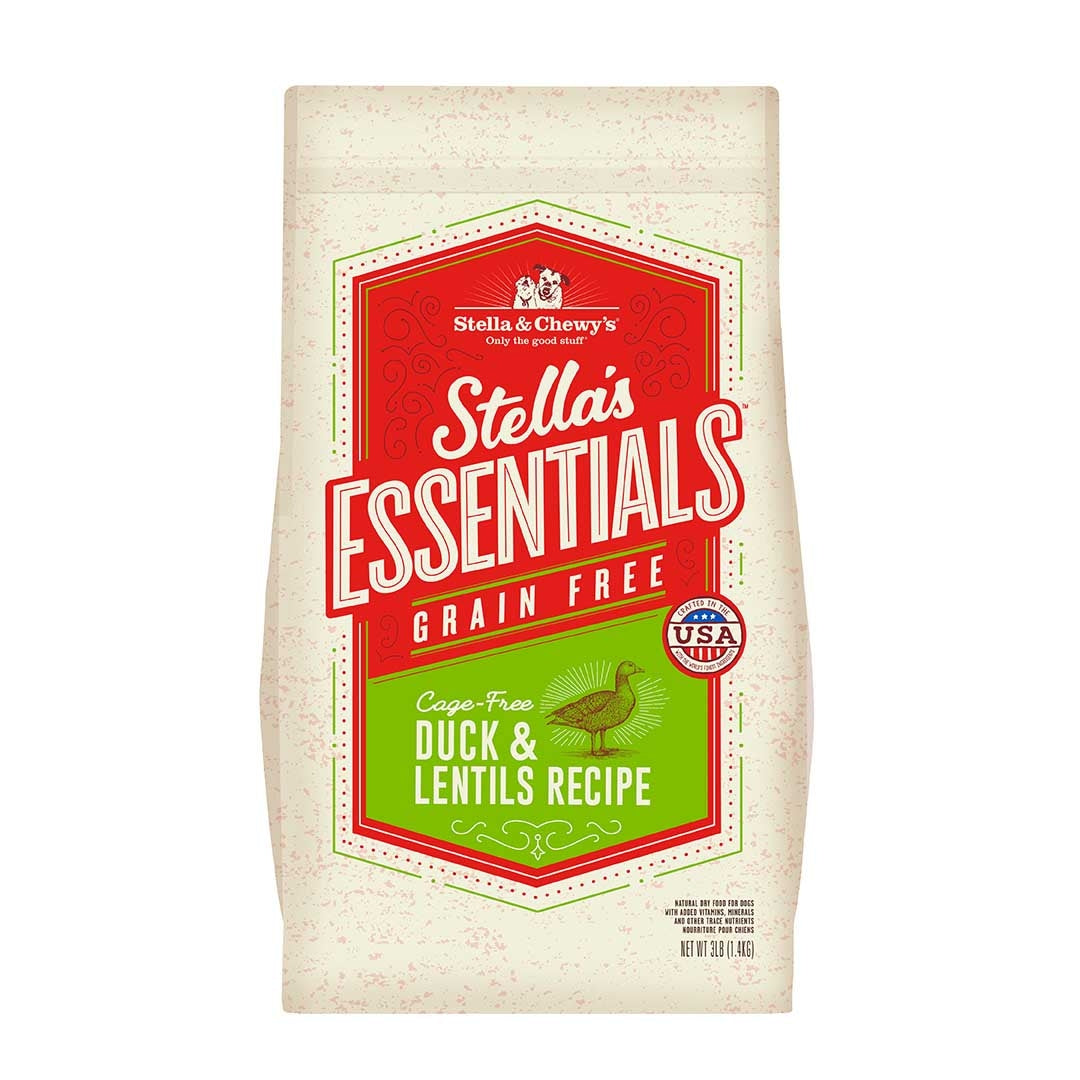 Stella & Chewy's - Stella's Essentials Grain-Free Duck & Lentils Dog Food Kibble (25lbs)