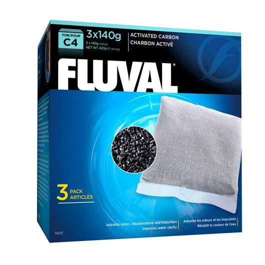 Fluval Carbon for C4 Power Filters, 3 Pack