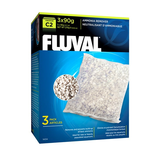 Fluval Ammonia Remover for C2 Power Filters, 3 Pack