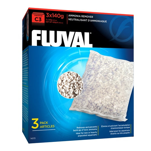 Fluval Ammonia remover for C3 Power Filters, 3 Pack