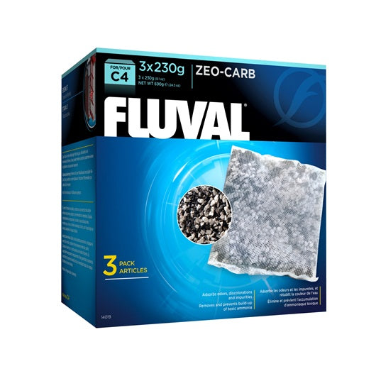 Fluval Zeo-Carb for C4 Power Filters, 3 Pack