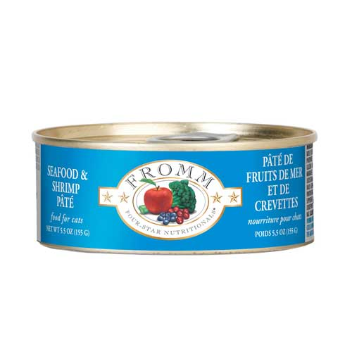 Fromm Four-Star Seafood and Shrimp Pate Canned Entrée Cat Food