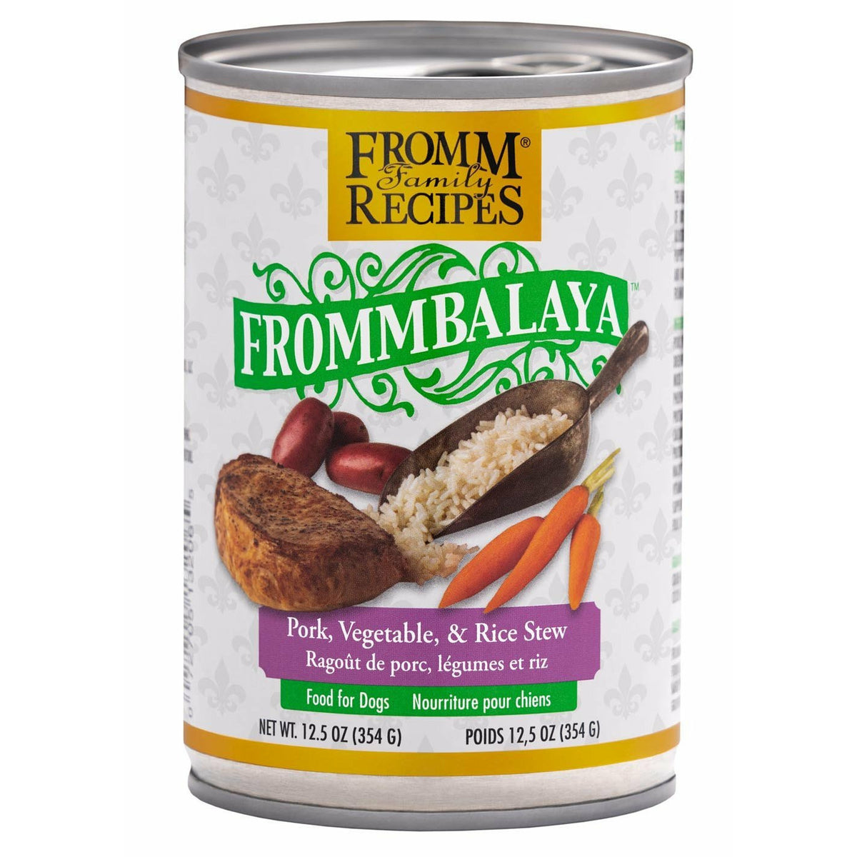 Fromm Family Recipes - Frommbalaya Pork, Vegetable, & Rice Stew - Canned Dog Food (354g)