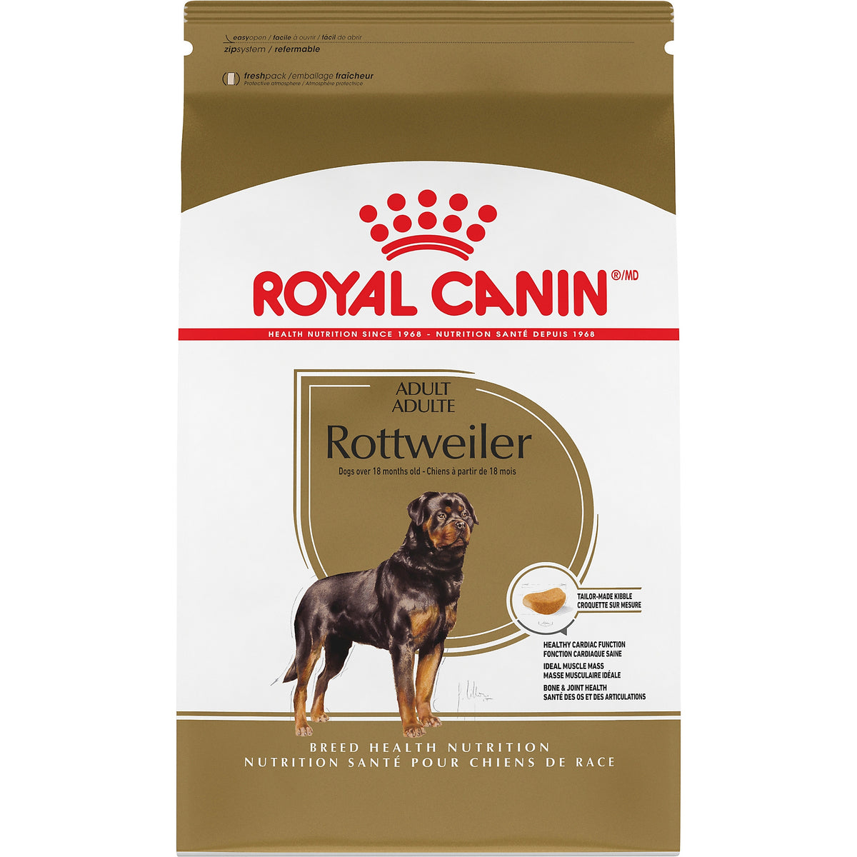 Royal Canin Rottweiler Adult Dog Food (30lb)