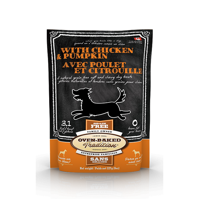 Oven Baked Tradition - Soft & Chewy All Natural Grain-free Chicken & Pumpkin Dog Treats (227g)