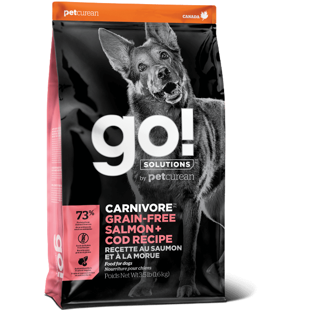 Go! Solutions Carnivore Grain-Free Salmon + Cod Recipe - Dog Food (3.5lb, 12lb, 22lb)