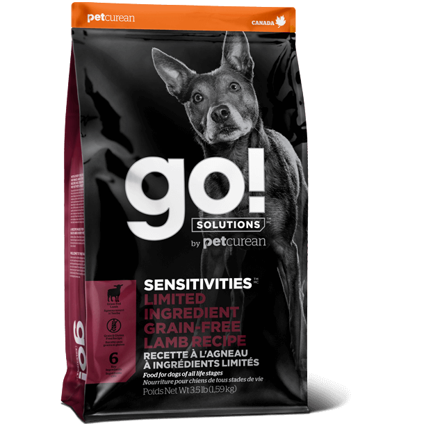 Go! Solutions Sensitivities Limited Ingredient Diet (LID) Lamb Grain-Free Dog Food (3.5lb, 22lb)